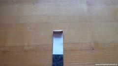 Nalepení zápalnice na papírový proužek