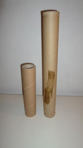 Zkrácená papírová trubka na délku 300 mm